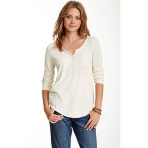 Lucky Brand Ivory Costa Mesa Pocket Tee - Large